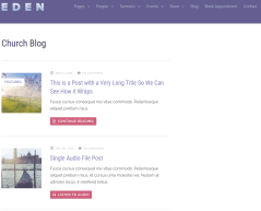 Eden theme Blogpage