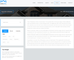 Estate Pro – page with left sidebar