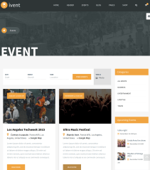 Event page in ivent theme