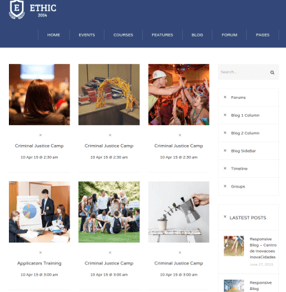 Event page of Ethic