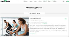 Event page of GymLife