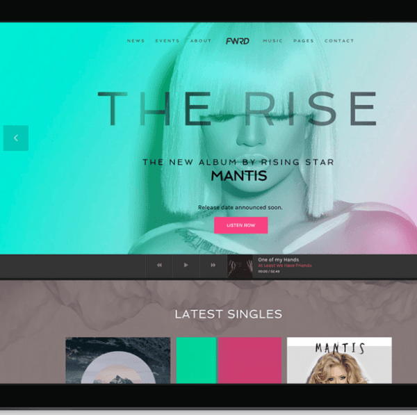 FWRD – WP theme for Musician and Bands