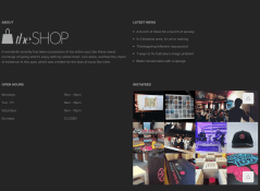 Footer of theShop