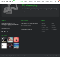 Footer of HealthCoach