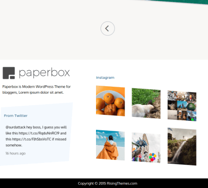Footer of paperbox