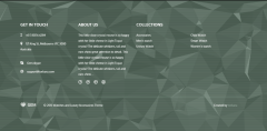 Footer section of GEM theme