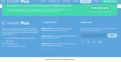 Footer section of Health Plus theme