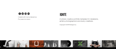Footer section of Ignite theme