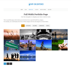 Full-width Portfolio page  WP-Enlightened