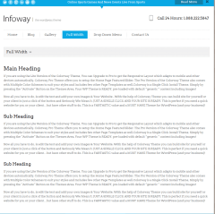 Fullwidth page of infoway theme