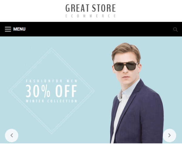 GREAT STORE – Ecommerce WP theme