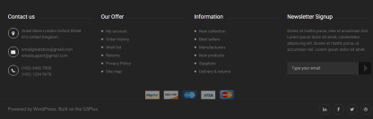 GREAT STORE - Footer