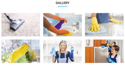 Gallery Page of Cleaning
