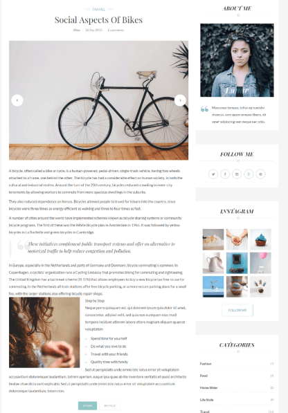 Gallery posts format of INK theme