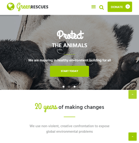Green rescues – Environmental WordPress theme