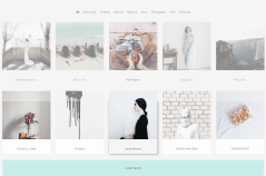 Grid layout portfolio of Salvador theme