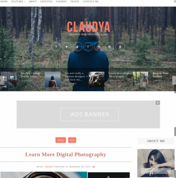 Homepage of Claudya