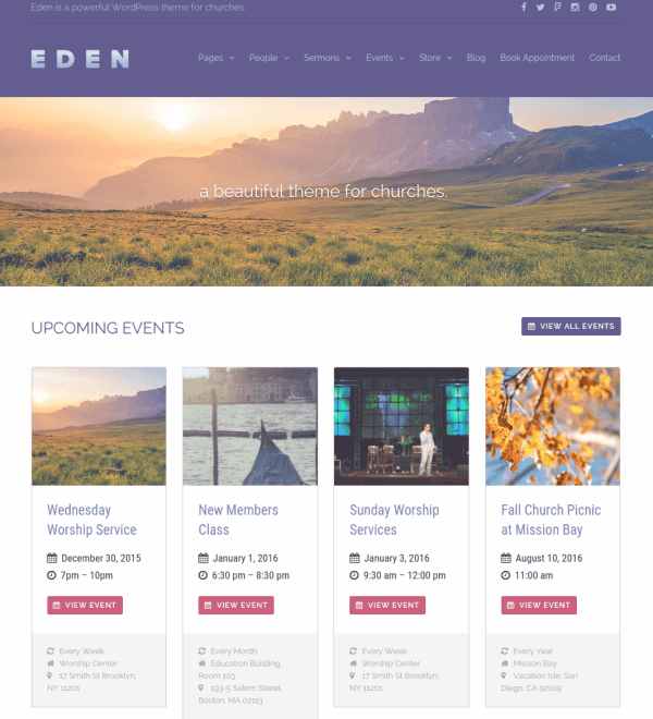 Homepage of Eden
