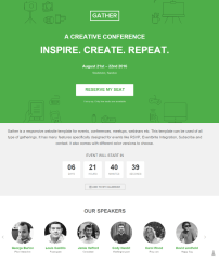 Homepage of Gather theme