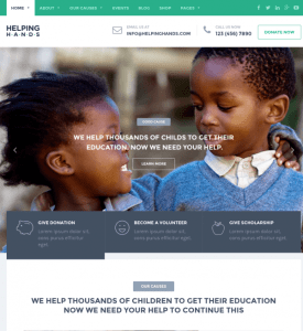 Homepage of Helping Hands