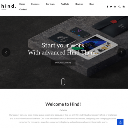 Homepage of Hind