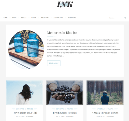 Homepage of INK theme