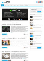 Homepage of Iconic Pro One theme