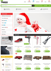 Homepage of Newshopping theme