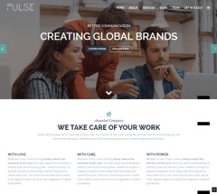 Homepage of Pulse theme – Copy – Copy