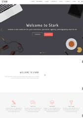Homepage of STARK theme