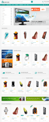 Homepage of Shopico theme