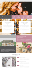 Homepage of Wedding couple theme