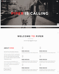Homepage of piper theme