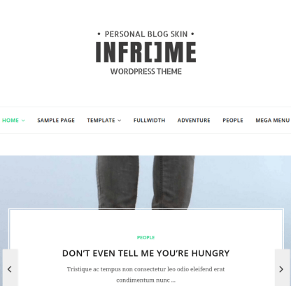 Inframe homepage