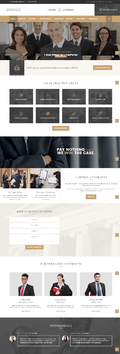 Lawyers Attorneys - homepage
