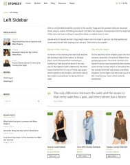 Left Sidebar Page – Storesy