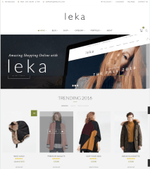 Leka – Homepage of the theme in a Boxed style.