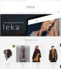 Leka - Homepage of the theme in a Boxed style.