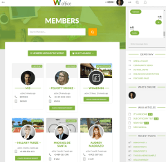 Members page – Woffice