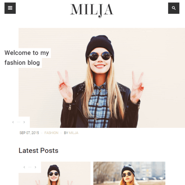 Milja – Blog WordPress theme
