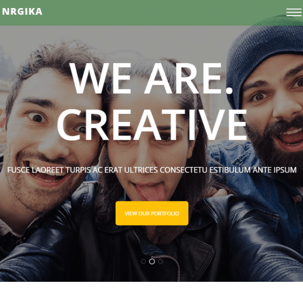 NRGika – One page Portfolio WordPress theme