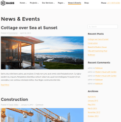 News and Events page of Basis
