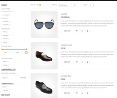 Noraure – shop page
