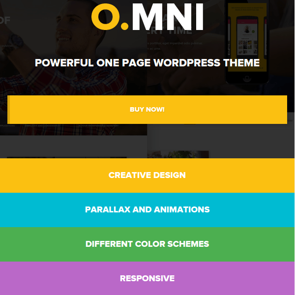 Omni – Powerful One and Multipage App WP Theme