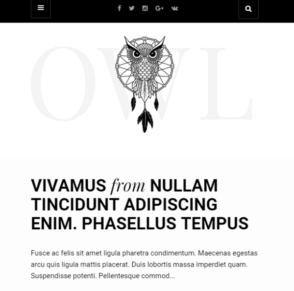 Owl – Responsive WordPress theme for personal blogs.