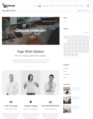 Page Right Sidebar – Gordon