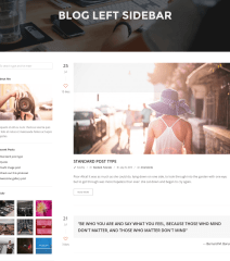 Page with Left sidebar – TopPic