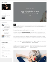Page with left sidebar – Comfort
