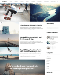 Page with right sidebar – Boston