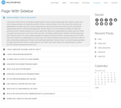 Page with sidebar  WP-Multipurpose